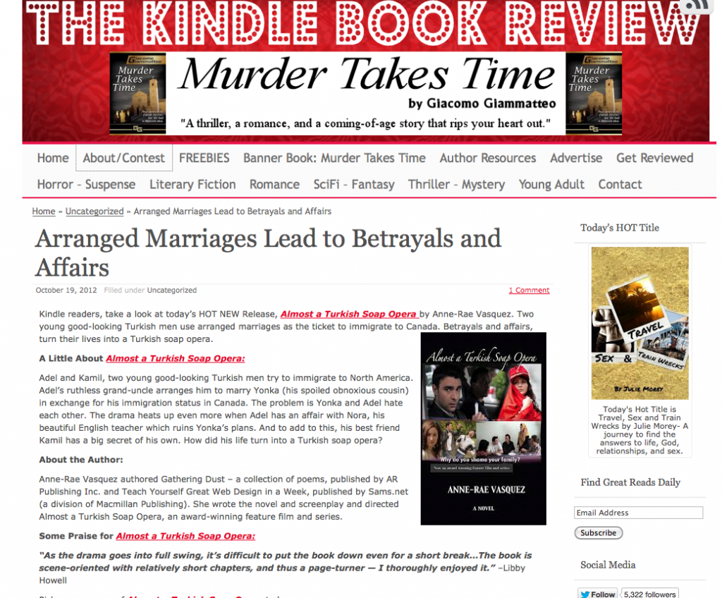 Arranged Marriages Lead to Betrayals and Affairs – Almost a Turkish Soap Opera, novel by Anne-Rae Vasquez