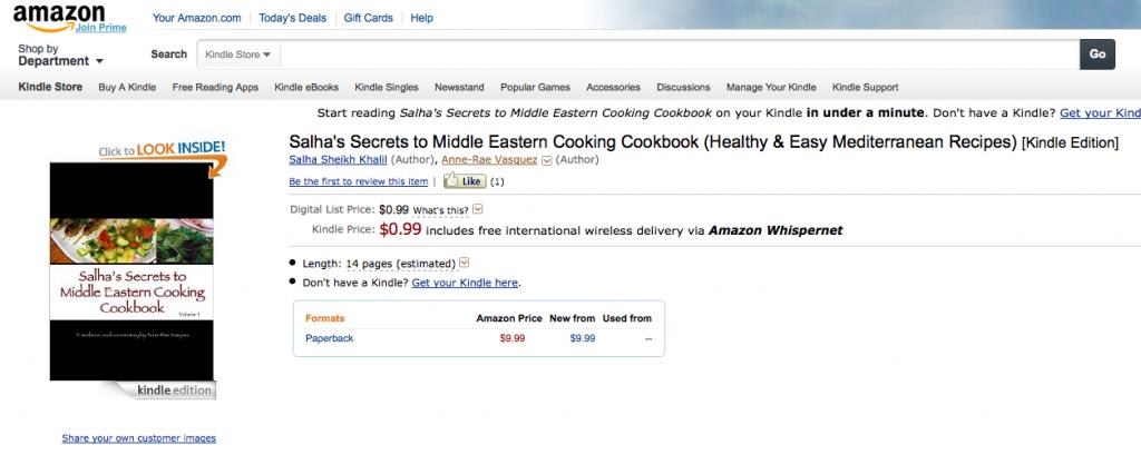 My cookbook is #14 on Amazon's best seller list