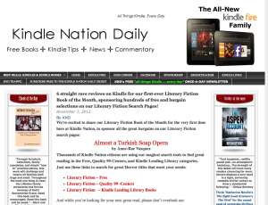 Almost a Turkish Soap Opera, featured on Kindle Daily Nation
