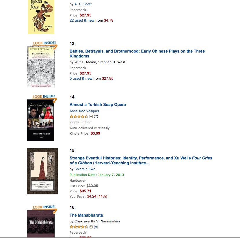 #14 Amazon Best Seller List, Book Tour stop 7 and new Amazon review for Almost a Turkish Soap Opera