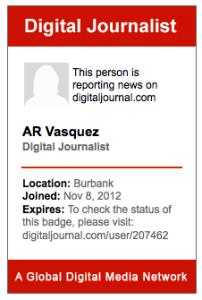 Digital Journalist Press Badge