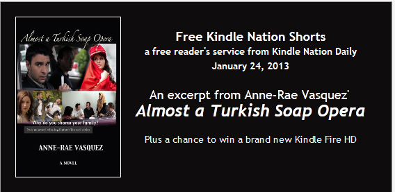 Kindle Daily Nation features Almost a Turkish Soap Opera kindle book