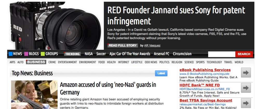 Digital Journal - Red sues Sony