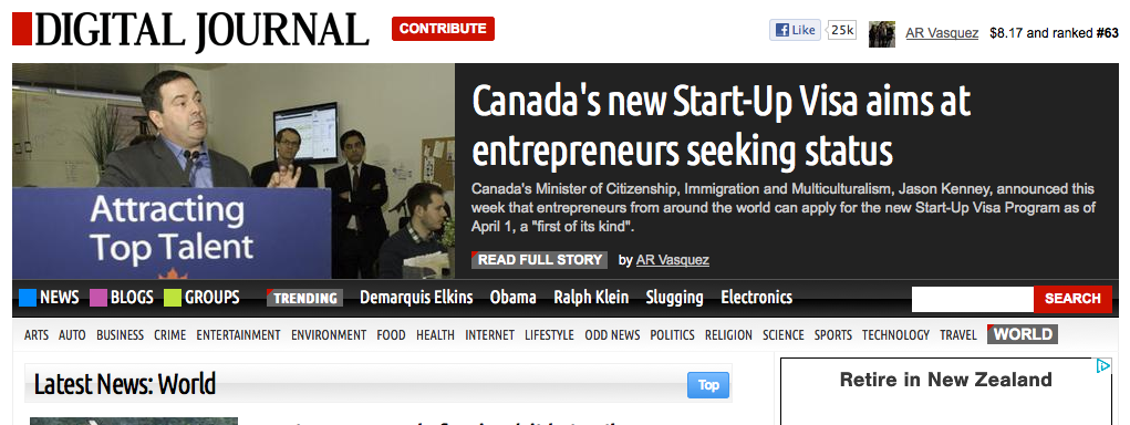 Canada's new Start-Up Visa program