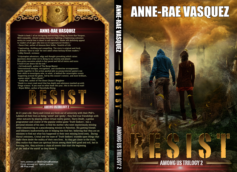Book cover reveal – RESIST – book 2 of Among Us Trilogy