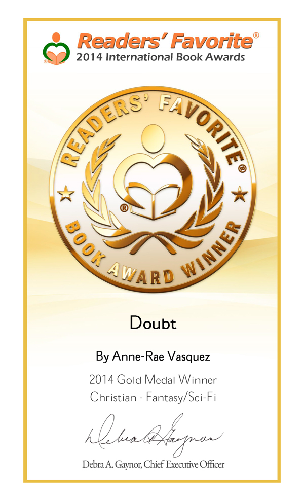 Doubt - gold winner in Readers' Favorite Book Awards 2014
