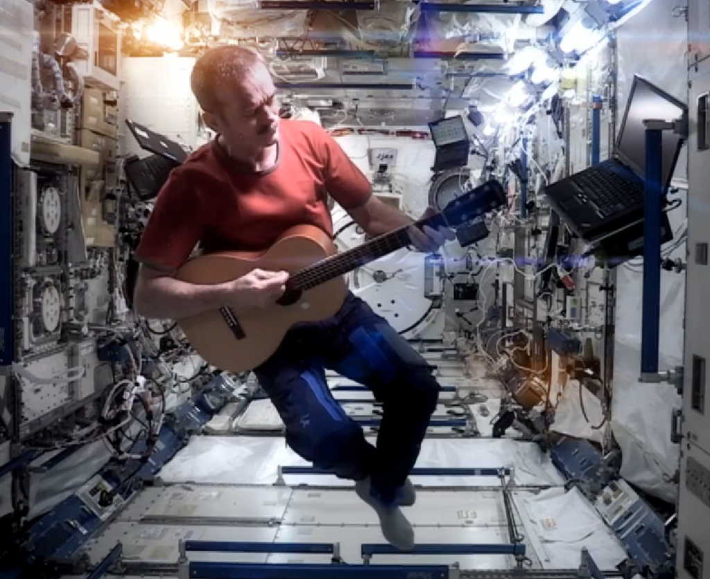 Astronaut cover of David Bowie's Space Oddity in outer space is memorable tribute