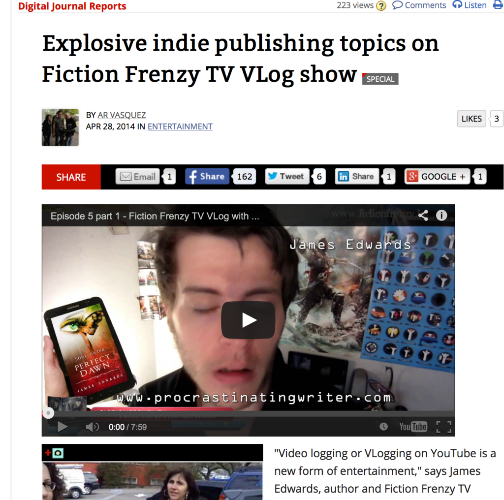 Fiction Frenzy TV Vlog on Vimeo